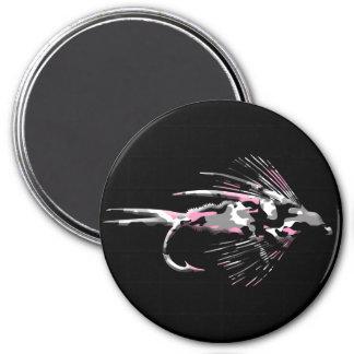 Señuelo rosado de la pesca con mosca de Camo Imán