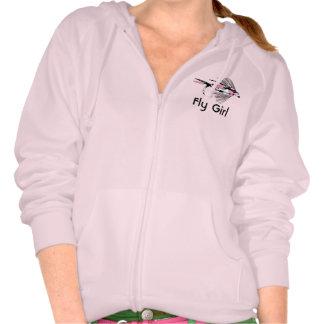Señuelo rosado de la pesca con mosca de Camo Camisetas