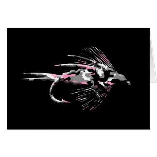 Señuelo rosado de la pesca con mosca de Camo Tarjeton