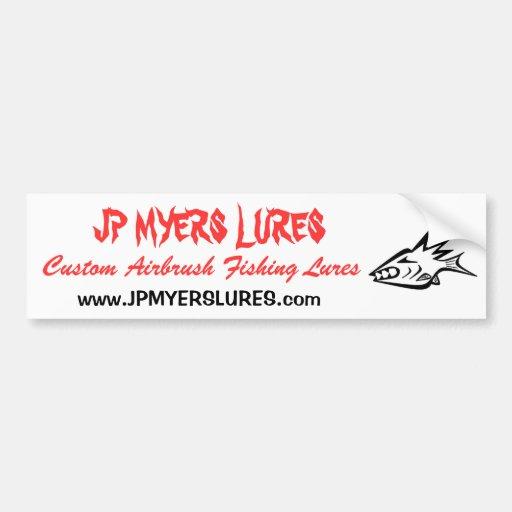 SEÑUELOS de JP MYERS, pegatina para el parachoques Etiqueta De Parachoque