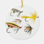 Señuelos de la pesca con mosca adornos de navidad