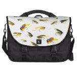Señuelos de la pesca con mosca del vintage bolsas de portatil