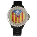 Senyera Estelada Blava Antiga Relojes De Pulsera