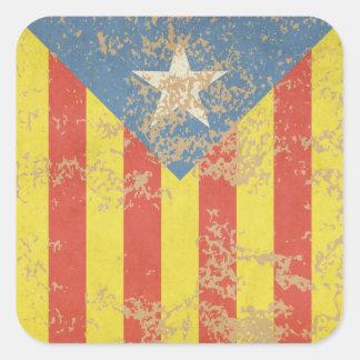 Senyera Estelada Blava Antiga Square Sticker