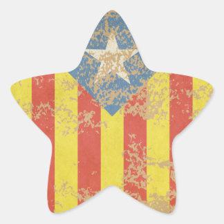 Senyera Estelada Blava Antiga Star Sticker
