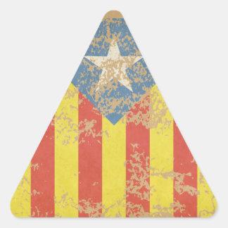 Senyera Estelada Blava Antiga Triangle Sticker