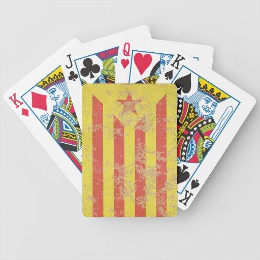 Senyera Estelada Vermella Antiga Baraja Cartas De Poker
