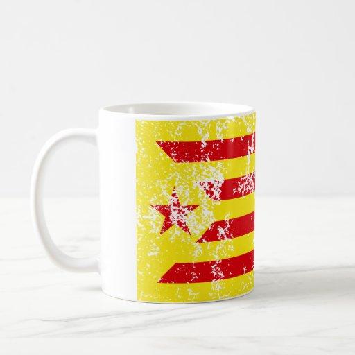 Senyera Estelada Vermella Antiga Tazas De Café