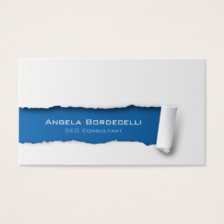 SEO Consultant Business Card Ripped Paper