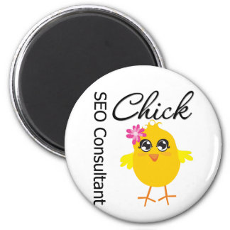 SEO Consultant Chick Refrigerator Magnet