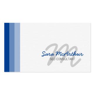 SEO Consultant Internet Skills Cursive Monogram Business Card