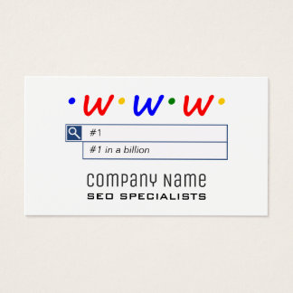 SEO Consultants Business Cards
