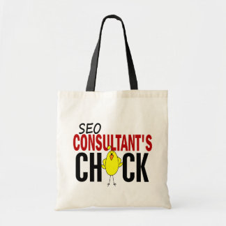 SEO Consultant's Chick Tote Bags