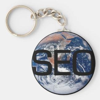 SEO Earth Basic Round Button Keychain