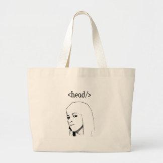Seo head tote bags