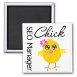 SEO Manager Chick Fridge Magnet