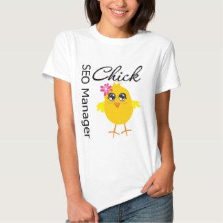 SEO Manager Chick Tshirt