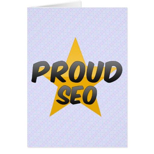 Seo orgulloso felicitación