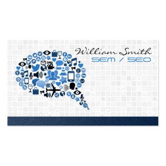 SEO / SEM / Social Media Tarjetas De Visita