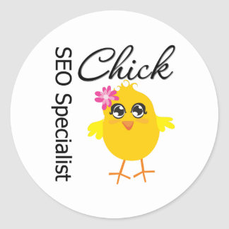 SEO Specialist Chick Stickers