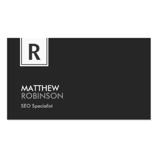 SEO Specialist - Modern Classy Monogram Double-Sided Standard Business Cards (Pack Of 100)
