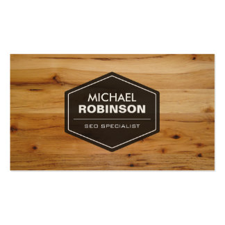 SEO Specialist - Modern Wood Grain Look Double-Sided Standard Business Cards (Pack Of 100)