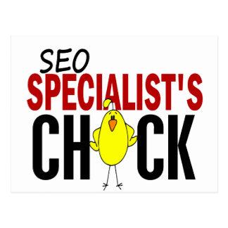 SEO Specialist s Chick Postcard