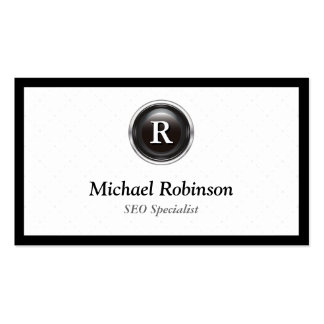 SEO Specialist - Simple Stylish Monogram Double-Sided Standard Business Cards (Pack Of 100)