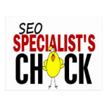 SEO Specialist's Chick Postcard