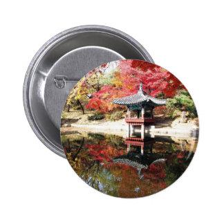Seoul Autumn Colors 2 Inch Round Button