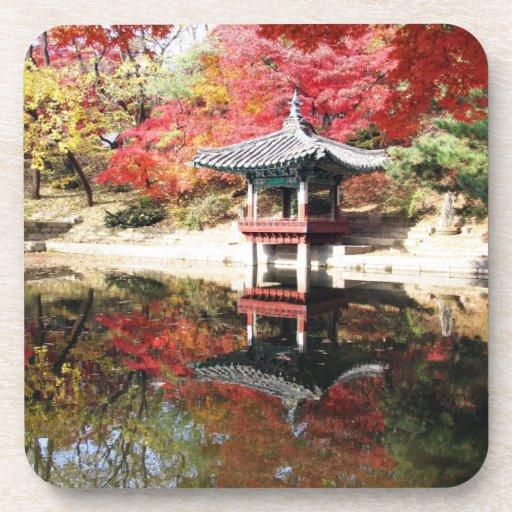 Seoul Autumn colours cork coasters