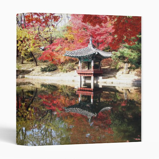 Seoul Autumn Japanese Garden Binder