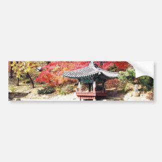 Seoul Autumn Japanese Garden Car Bumper Sticker