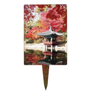 Seoul Autumn Japanese Garden Cake Topper