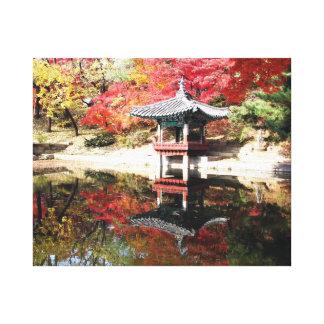 Seoul Autumn Japanese Garden Canvas Print