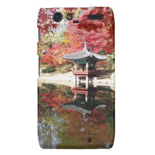 Seoul Autumn Japanese Garden Motorola Droid RAZR Cover