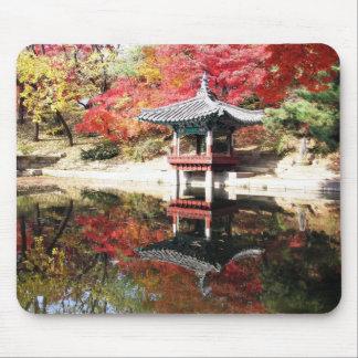 Seoul Autumn Japanese Garden Mouse Pad