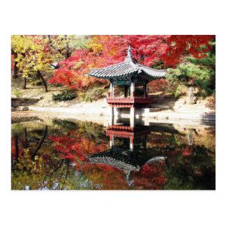 Seoul Autumn Japanese Garden Postcard