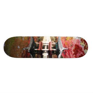 Seoul Autumn Japanese Garden Skateboard