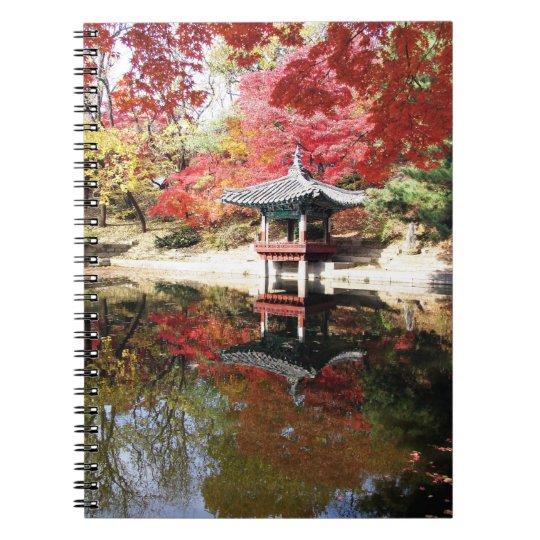 Seoul Autumn Japanese Garden Spiral Notebook