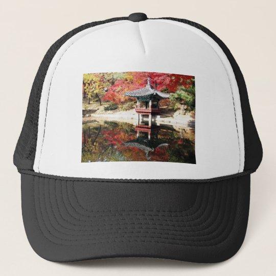 Seoul Autumn Japanese Garden Trucker Hat