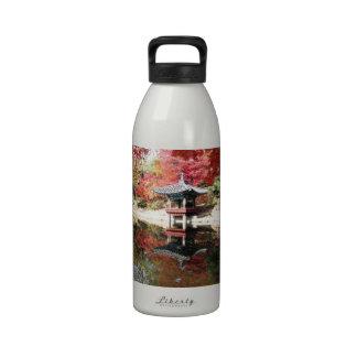 Seoul Autumn Japanese Garden Reusable Water Bottles