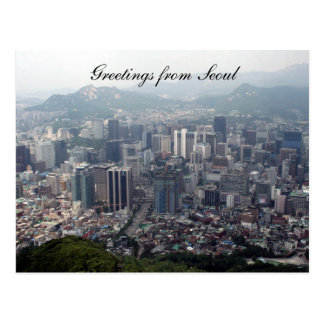 seoul city greetings postcard