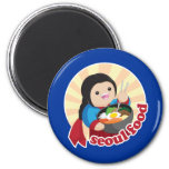 Seoul Food 2 Inch Round Magnet