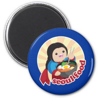 Seoul Food 2 Inch Round Magnet