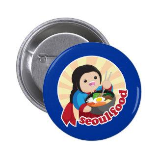 Seoul Food Pinback Button