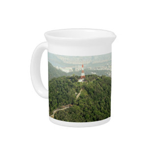 Seoul From Above Photo Beverage Pitcher