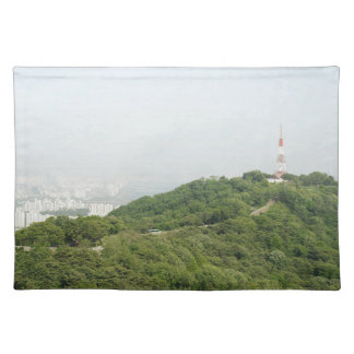 Seoul From Above Photography Cloth Placemat