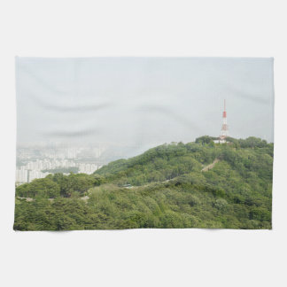 Seoul From Above Photography Towel