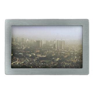 Seoul From Above Urban Photo Rectangular Belt Buckle